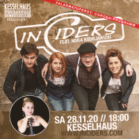 InCiders live<br><small><small>Special Guest: Nora Kudrjawizki (One Violin Orchestra)</small></small>